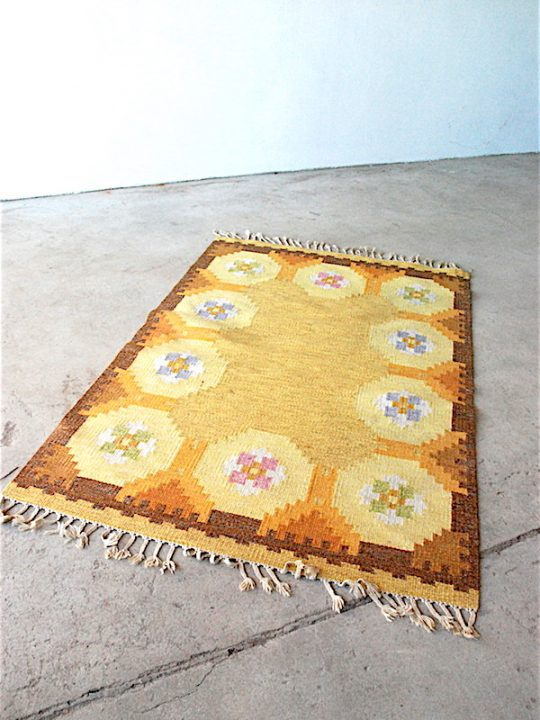 Tapestry carpet, Signed RE 200 x 136 cm